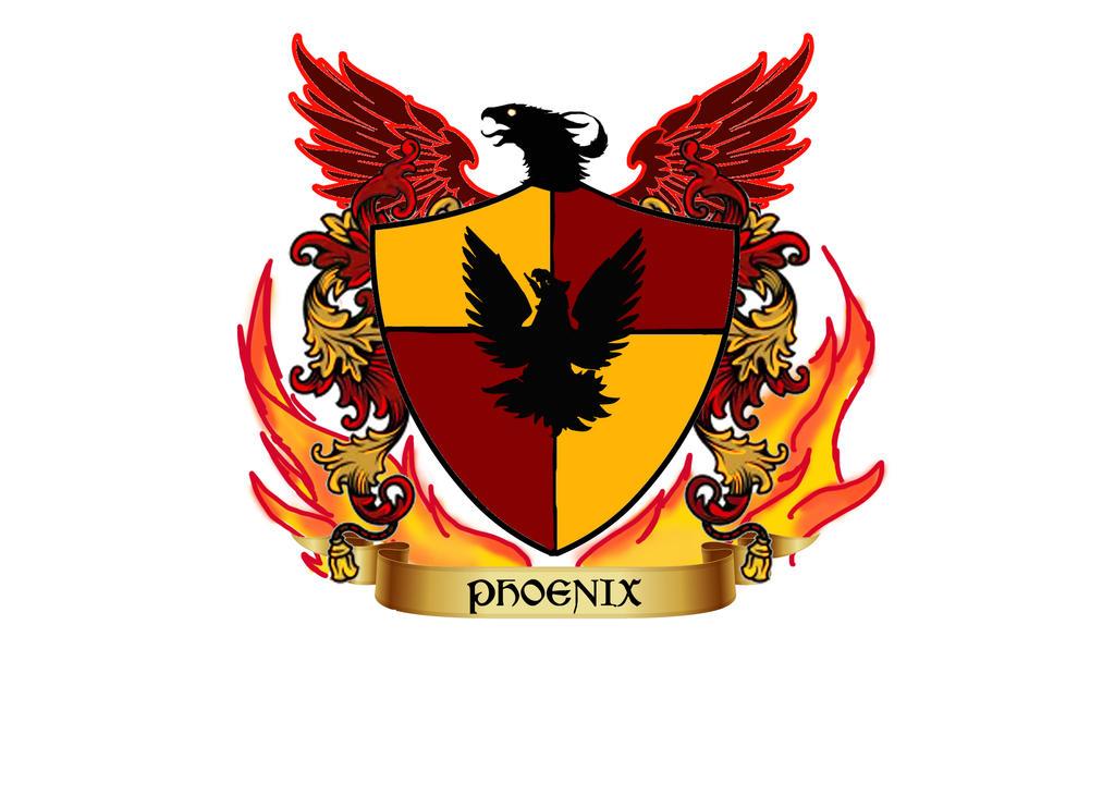 Mock Hogwarts House Crest 1 Phoenix By NyxShadowhawk1