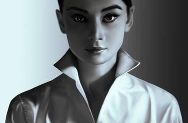 Audrey Hepburn by lchrno
