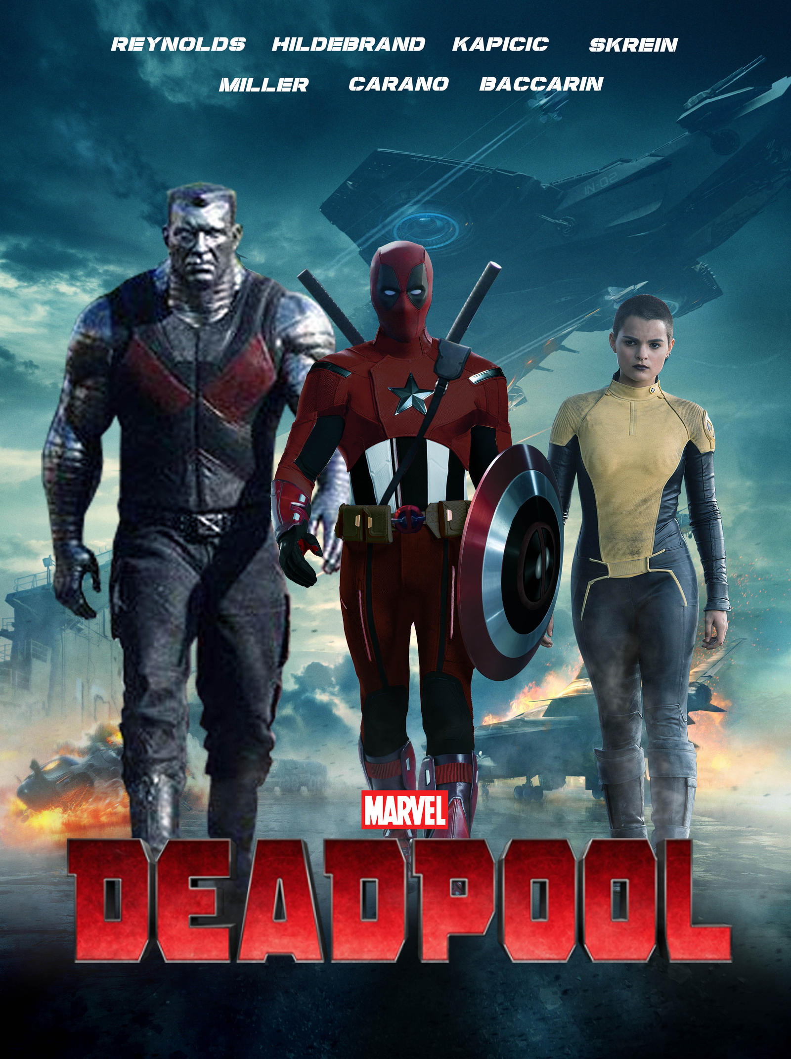 Captain Deadpool Poster by MarcellSalek-26 on DeviantArt