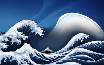 Hokusai's Great Wave-download by Pooxie