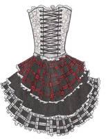 Gothic Dress Design by SpiralHumanity