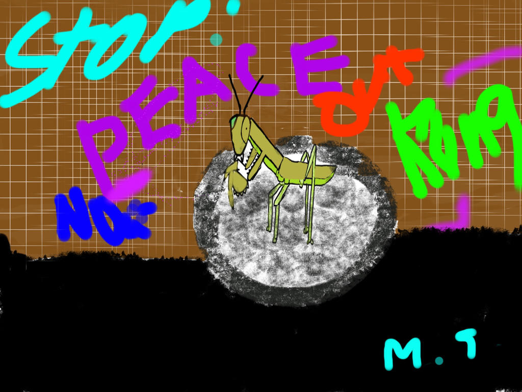Graffiti Mantis by jellycows