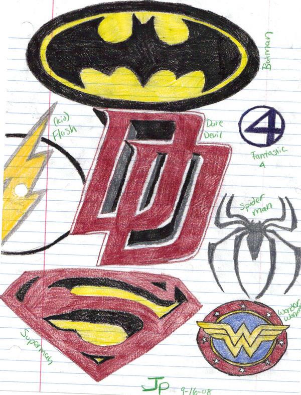 Superhero Logos By Xkigoxfanx On Deviantart