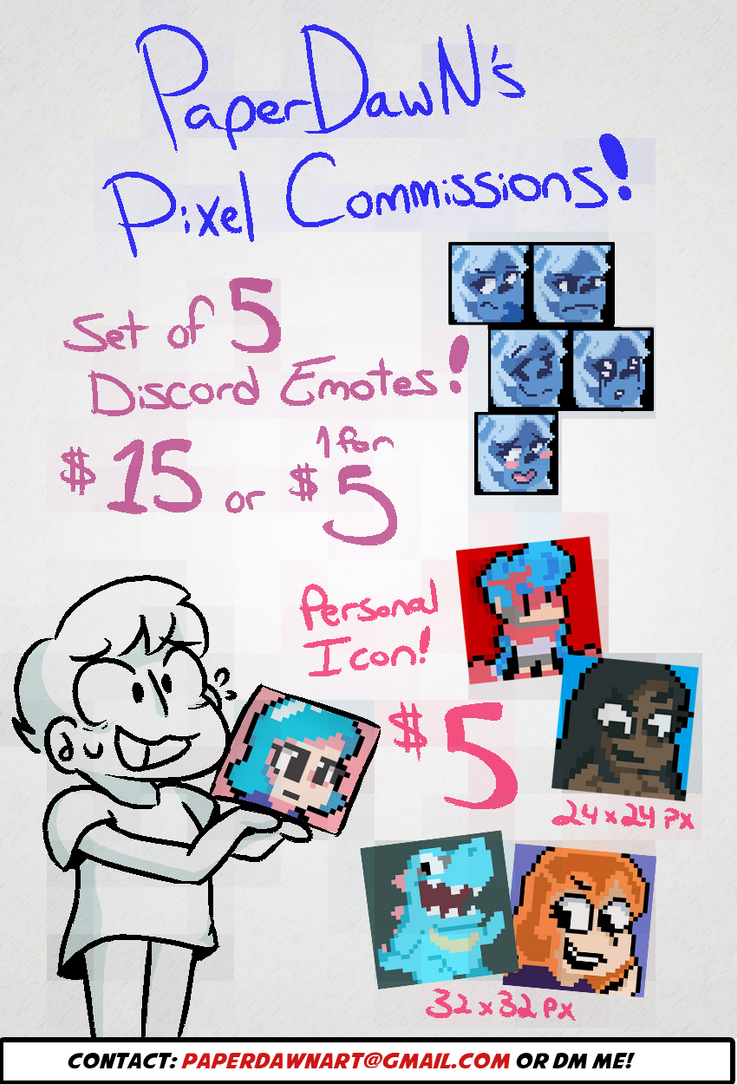 Pixel Art Commissions are OPEN! by paperluigi23