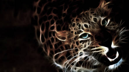 Glowing Leopard by MilosCreativeArt