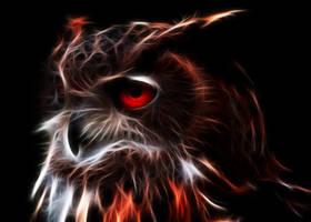 Glowing Owl by PlaviDemon