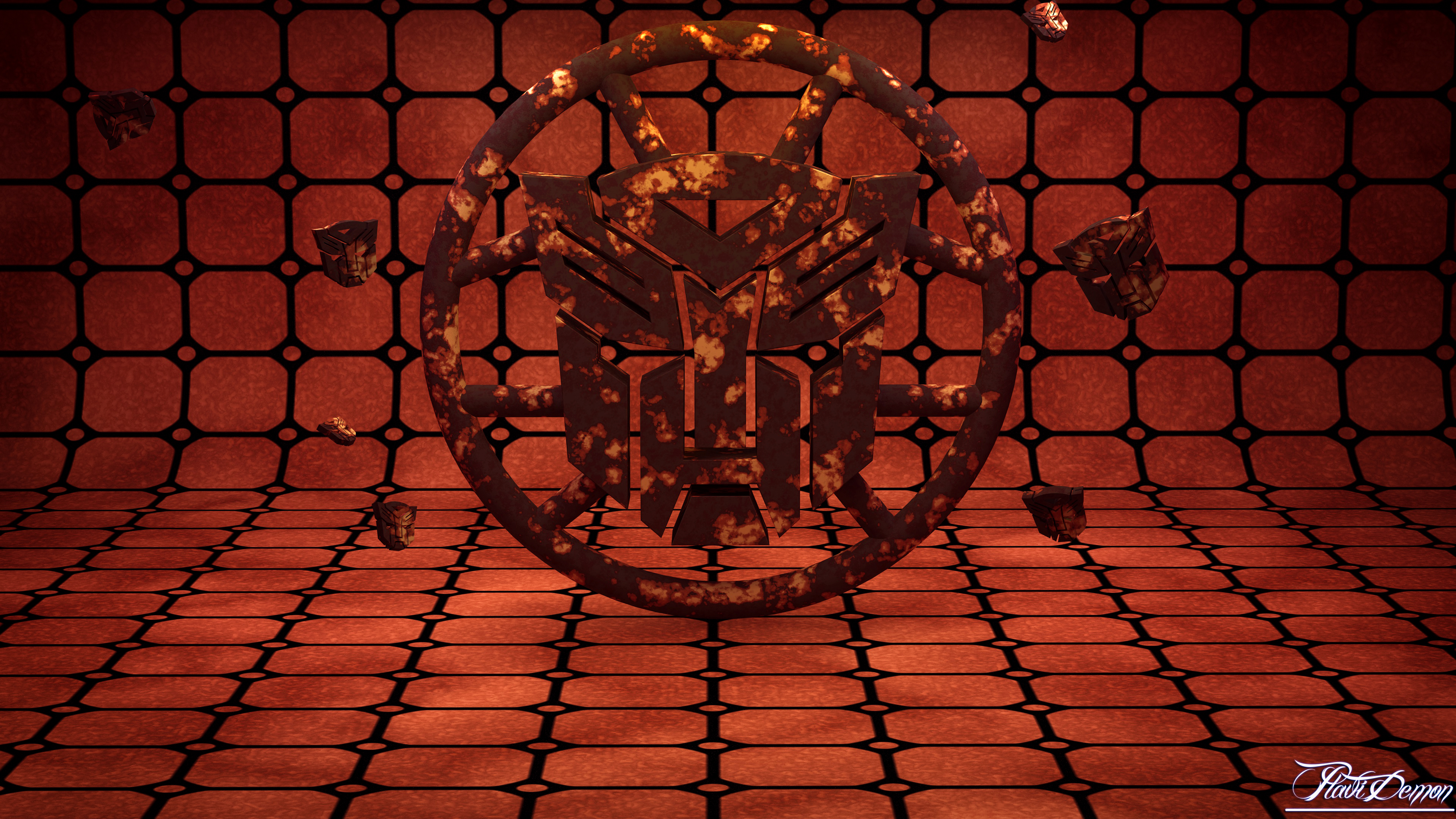 Autobot Rusty Gravity Room by PlaviDemon