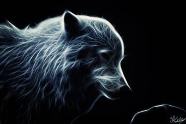Glowing Artic Wolf by PlaviDemon