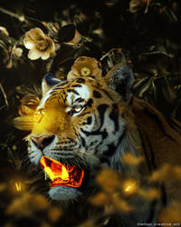 Gold Tiger by MilosCreativeArt