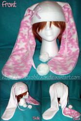 Fleece Ribbon Bunny Hat by WhiteOblivion