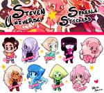 Steven Universe Chibi Sparkle Stickers by WhiteOblivion