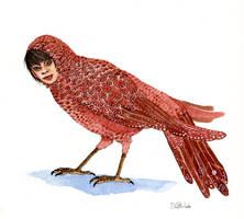 Red Bird Rook by bluealaris