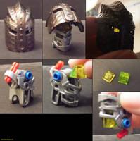 06 Knights Kingdom Helmet on Bionicle G2 Head by ShadowWolfHount