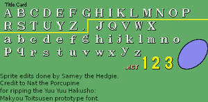 Sonic 1 Completed Title Card Font