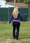 She keeps walking away...
