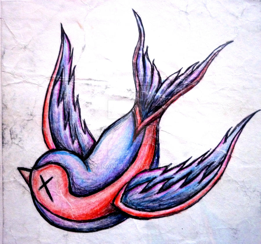 Cartoon swallow tattoo design deviantart pictures to pin for Swallow art tattoo