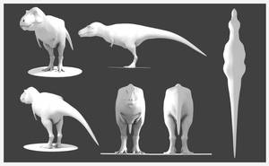 Tyrannosaurus Model by Julio-Lacerda