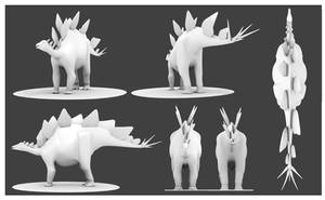 Stegosaurus Model by Julio-Lacerda