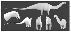 Apatosaurus Model by Julio-Lacerda