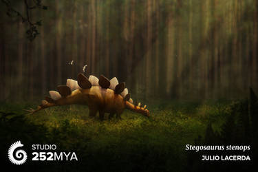 Stegosaurus stenops for Studio 252MYA by Julio-Lacerda