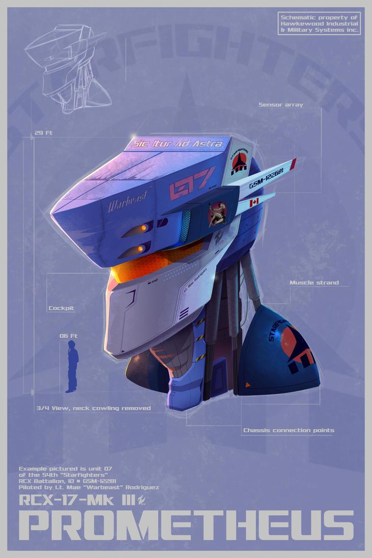 Prometheus Mech head schematic by Gryphon509