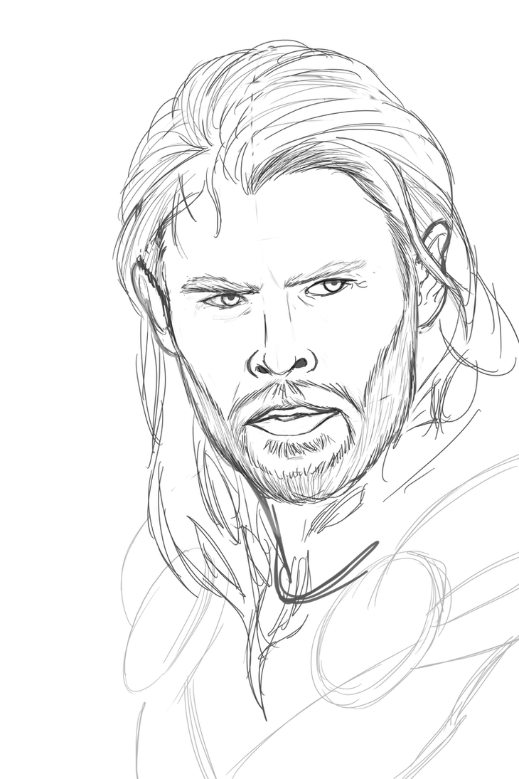 Thor Sketch by Gryphon509