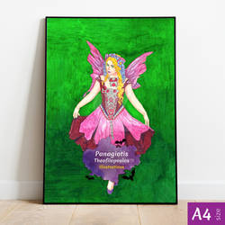 Purple Fairy: Original A4 Artwork