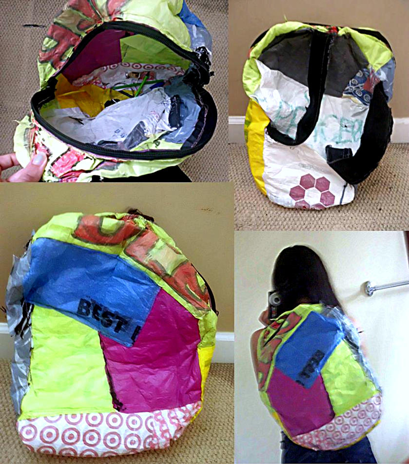 Fused Plastic Bookbag by UneGlaceRose