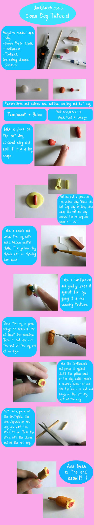 Corn Dog Tutorial by UneGlaceRose