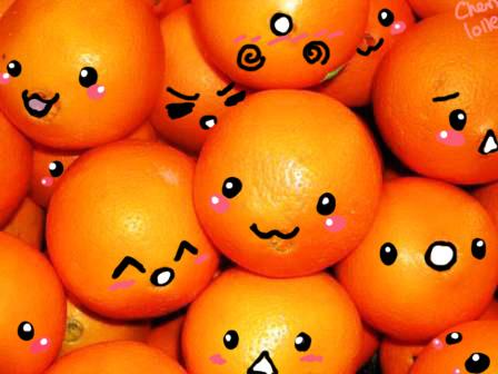Fruity Orange Faces by cheri-lolle