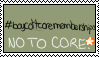 No to core stamp by Pixilet