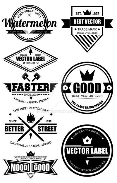 Vector Vintage Label By Badsyxn