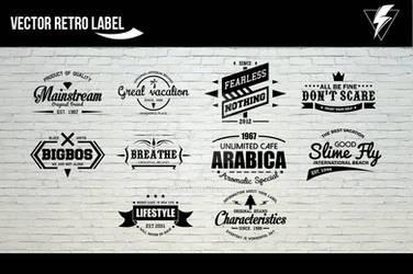 Vector Retro Label