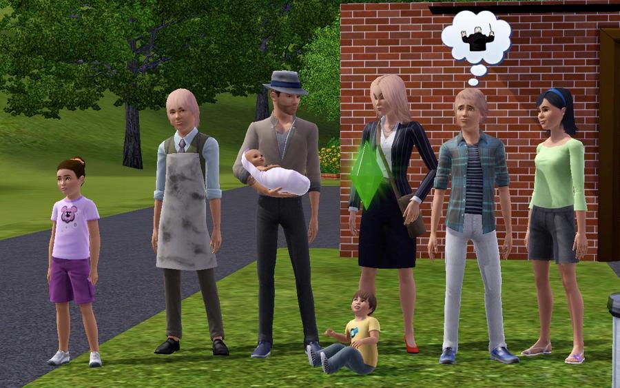 Как сделать семью в симс 4 играемой