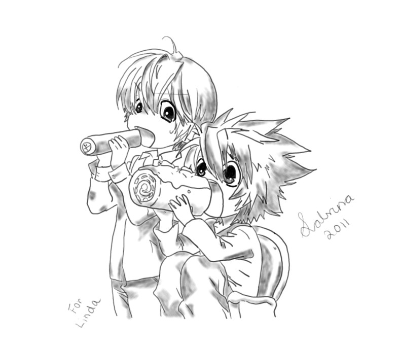 death note light and l chibi - photo #23
