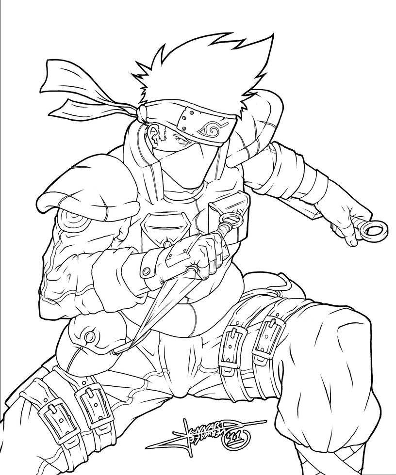 Kakashi hatake by lennardo on deviantart for Kakashi coloring pages
