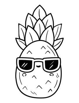 Ananas Na Wesoo Drukowanka Dla Dzieci