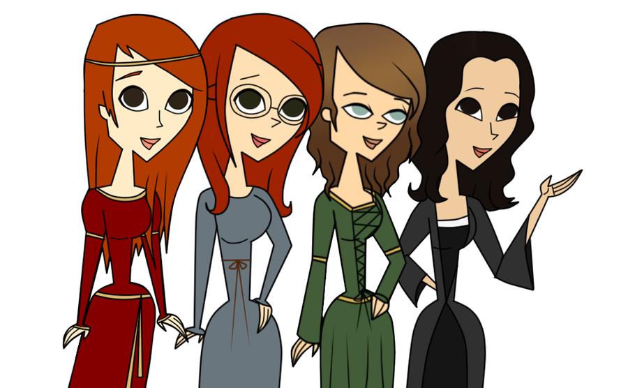 Medieval Princesses by katidoodlesmuch