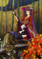 Shamisen Girl by redjuice999