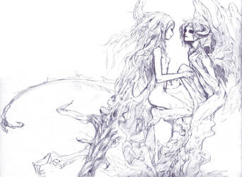 Dragon Age Nagi and Saki by redjuice999