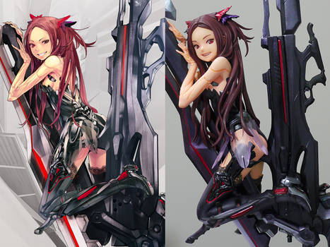 BEATLESS Kouka Garage Kit Figure