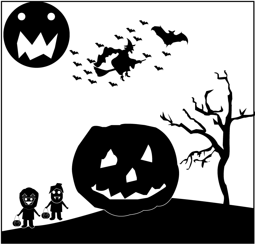 Black and white halloween by artvectorgraphic on deviantart - Halloween black and white ...