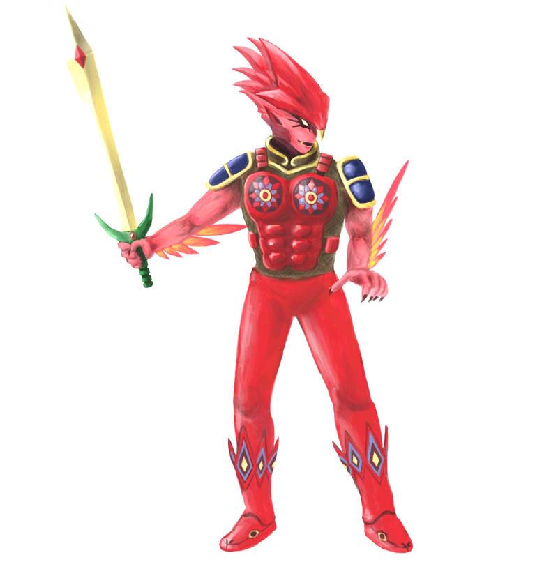 Red Berserker by manna-mori