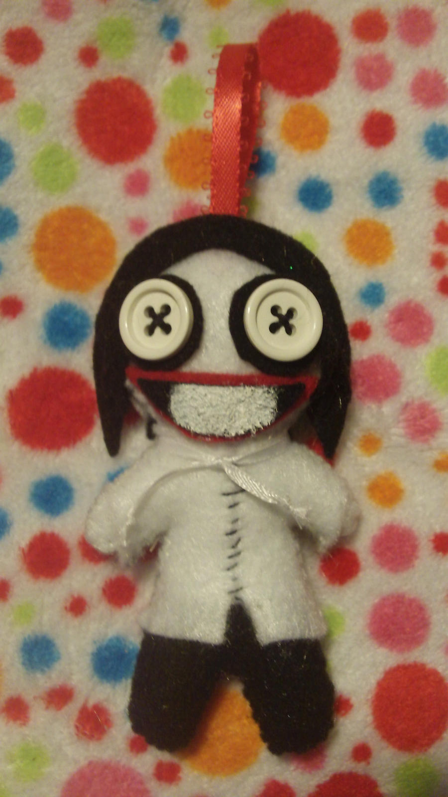 Jeff the Killer Plush Keychain by KaleidoscopicFungi