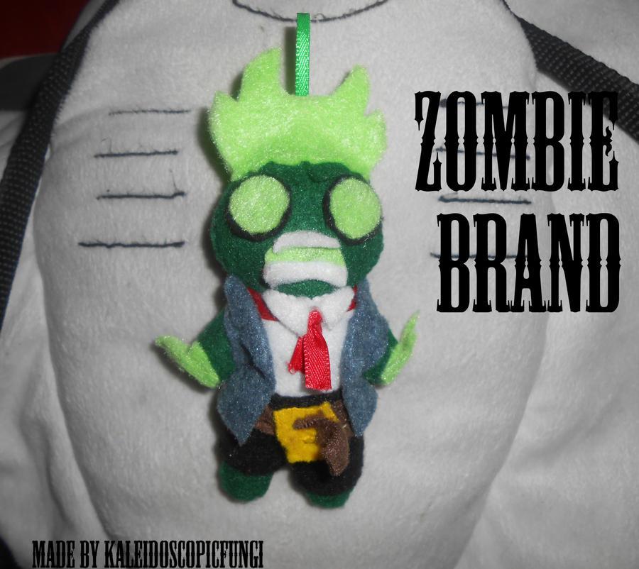 Zombie Brand Plush Keychain by KaleidoscopicFungi