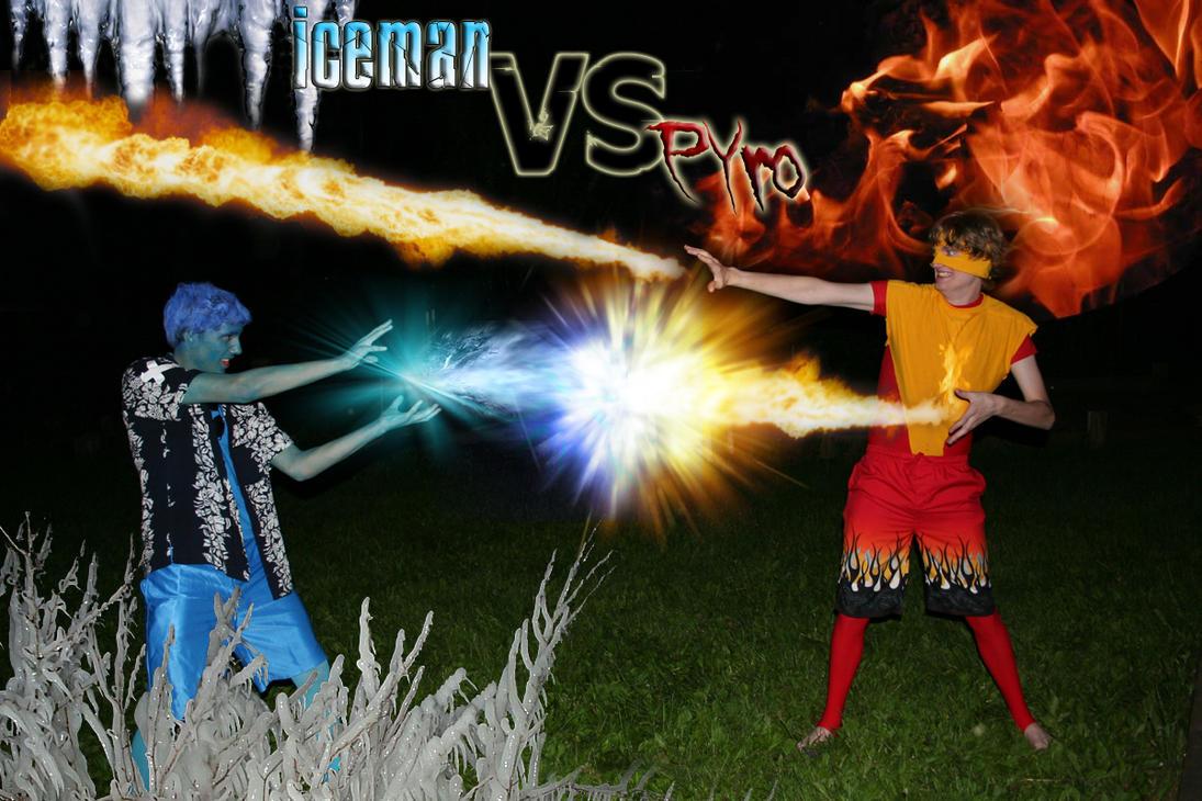 Iceman VS Pyro by Foleg