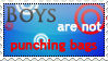 Boys are not Punching Bags -Stamp-
