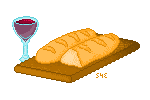 French Bread and Wine by Inemiset