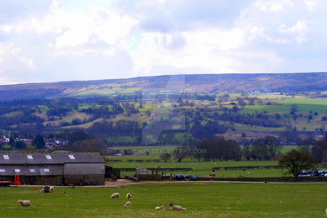 Looking Over at Ilkley Moors by Spe4un