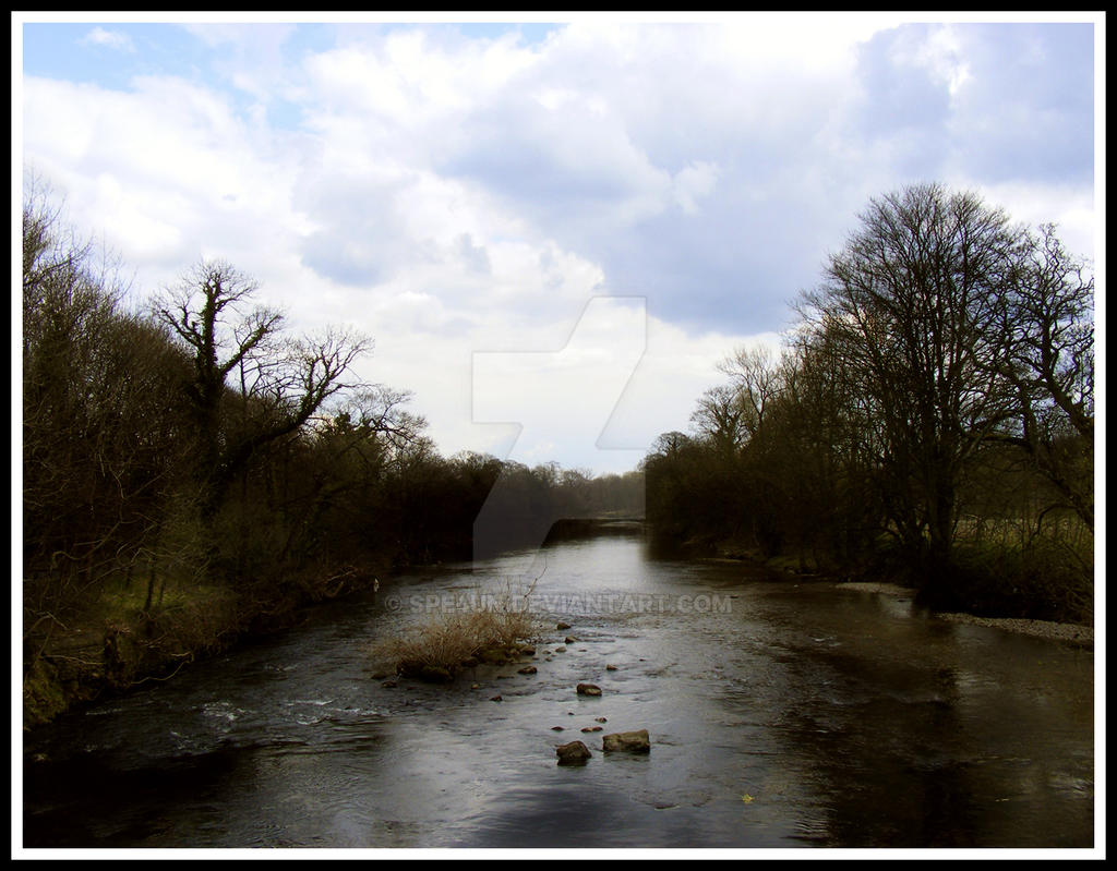 Overlooking River Near Ilkley by Spe4un